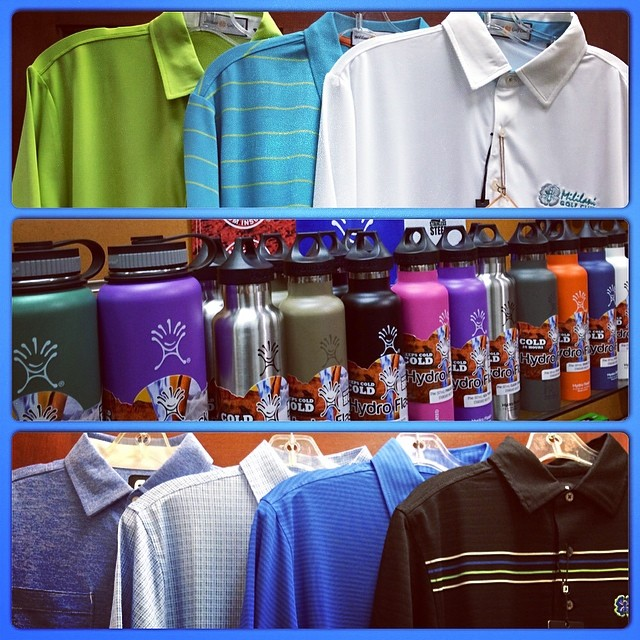 We received some new mens apparel and Hydro Flasks. We're also running a Spring Sale on all apparel. Stop in and take advantage of the great deals today! #mililanigolfclub #fullturndirect #footjoy #hydroflask #mililani #golf