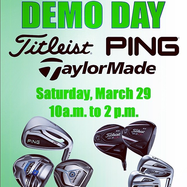Join us for a demo day on March 29th from 10 a.m. - 2 p.m. Great demo day prices will be offered! #mililanigolfclub #titleist #ping #taylormade #demoday #mililani